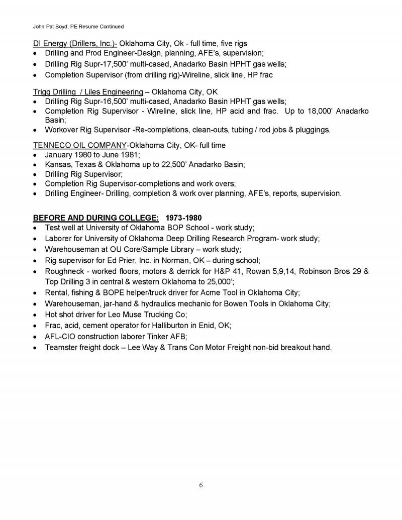 Resume Page 6